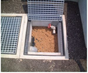油吸着材セルソーブ使用例・油水分離槽