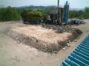 土壌汚染浄化現場